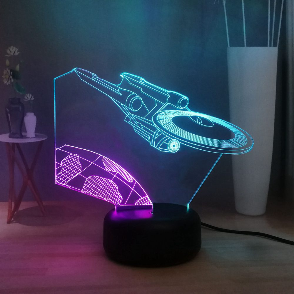 U.S.S. Exeter 3D Night Lamp