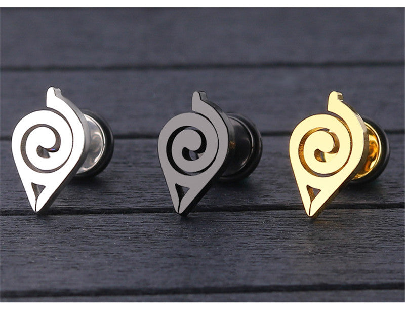 """Konoha"" - High Grade Stainless steel Stud Earrings"