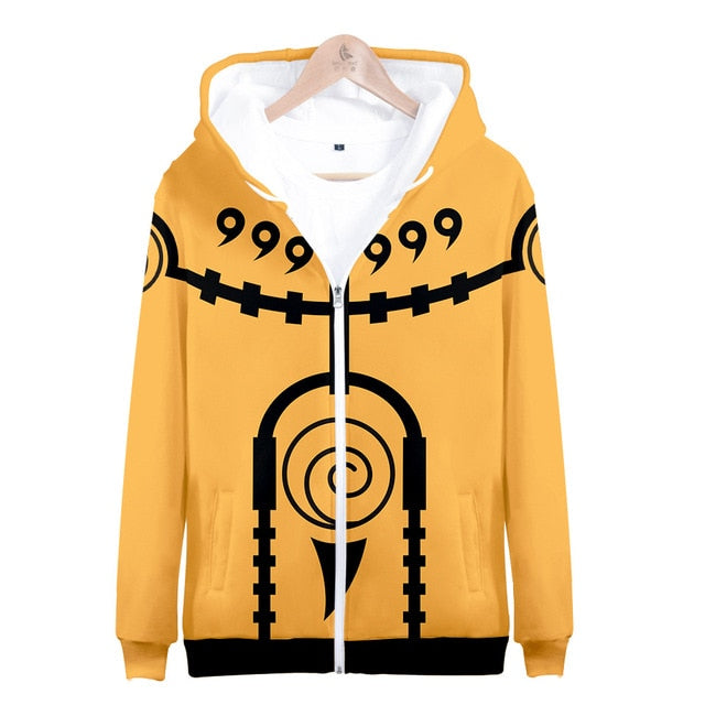 Nine-Tails Chakra Mode Pullover Hoodie