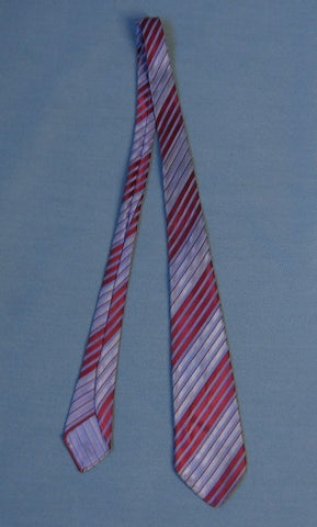 30s 40s Vintage Striped Red Purple Neck Tie Necktie