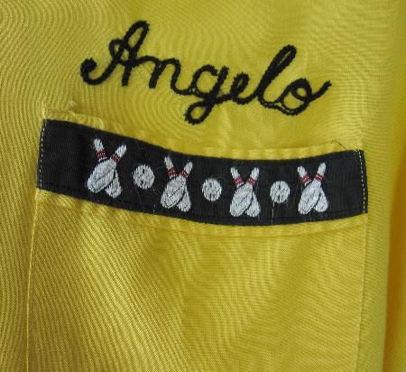 Angelo personalized bowling shirt