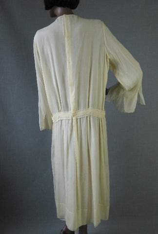 Antique 20s Chiffon Party Dress Wedding Vintage Bride M L