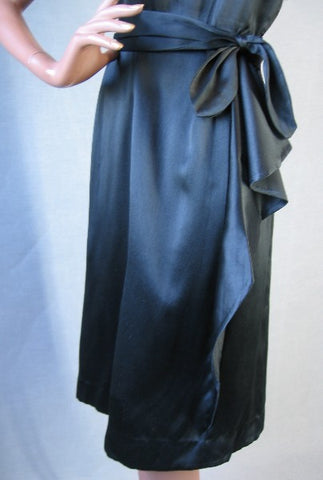 1940s vintage draped skirt party dress