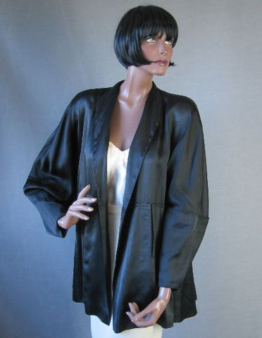 1940s vintage satin swing jacket