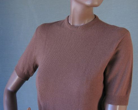 vintage 1950s crew neck pullover short sleeve