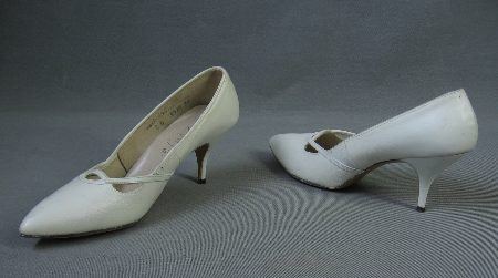 60s Spike Heels Vintage Shoes Mad Men New Old Stock Pointy Toe 8