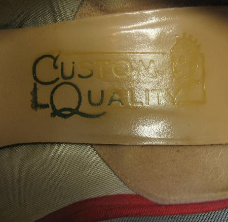 1950s vintage Custom Quality shoes label