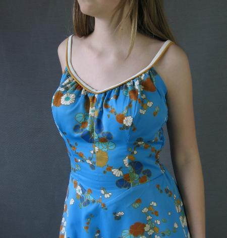 60s Vintage DeWeese Swim and Sun Dress Sundress M/L SATC