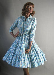 1950s vintage full skirt dress