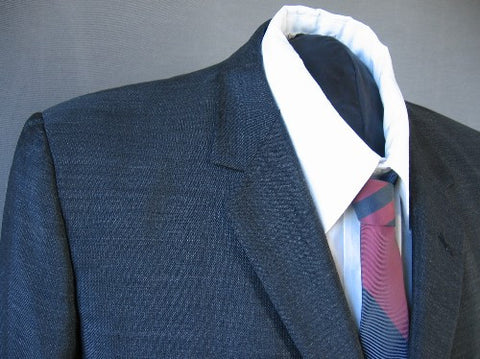 60s Mens Suit Jacket Vintage Sharkskin Edwardian Inspired