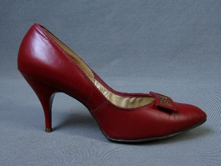 1950s vintage red stiletto heels