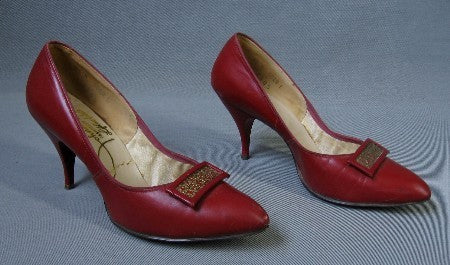 1960s vintage high heel shoes