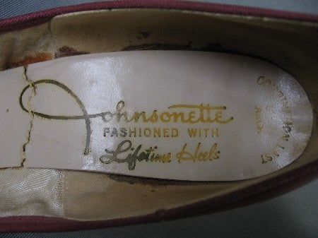 vintage stiletto shoes Johnsonette label 50s 60s