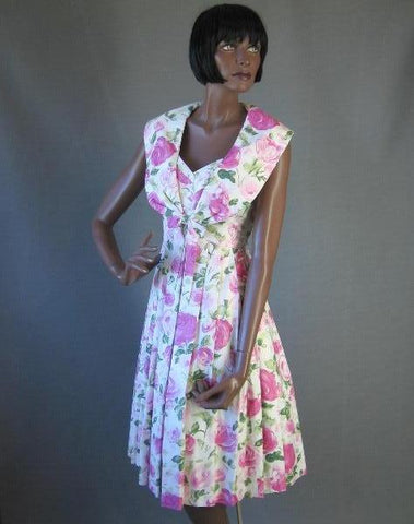 1950s vintage sundress full skirt