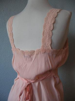 Vintage 30s 40s Barbizon Pink Rayon and Silk Nightgown and Bed Jacket S
