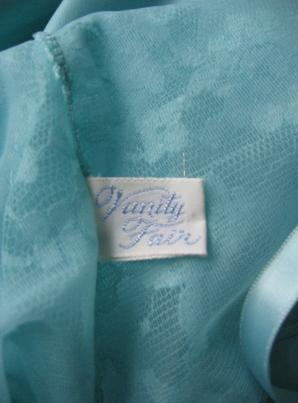 60s Vintage Slip Vanity Fair Aqua Lace New Old Stock S 34
