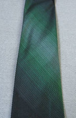 60s Vintage Don Loper SILK Neck Tie SKINNY Black Green