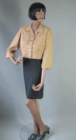 vintage 50s tan womens jacket
