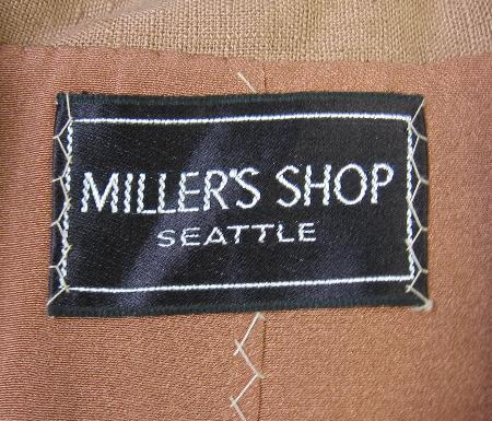 1950s vintage Miller's jacket label