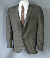 60s Vintage SHARKSKIN Plaid Suit Jacket Coat Mr COOL 44