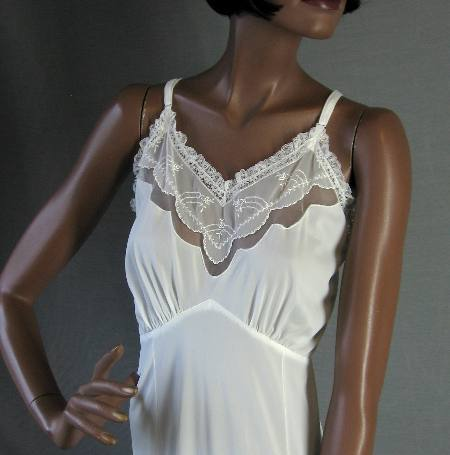 1950s vintage dress slip lacy