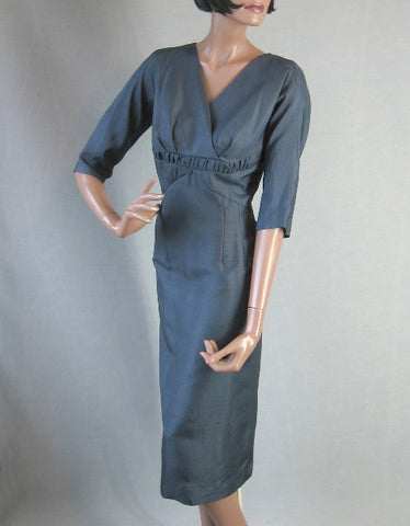 vintage 1960s fitted cocktail dress