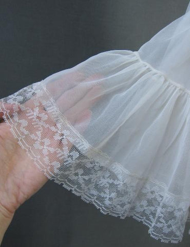 sheer nylon lace tiered petticoat