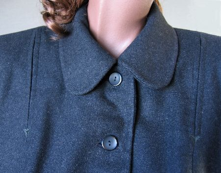 charcoal gray vintage 50s jacket