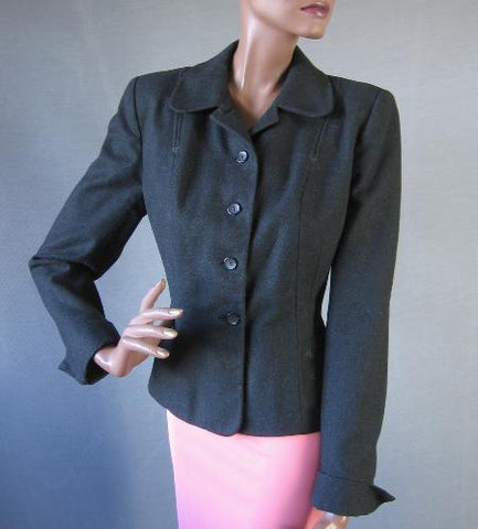 50s Vintage Nip Waist Jacket Skirt Suit Fit and Flare M