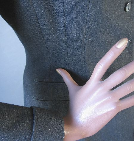 vintage 50s suit jacket arrow detail