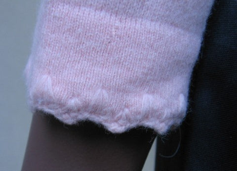 60s Vintage PINK LS Wool Sweater Girly S
