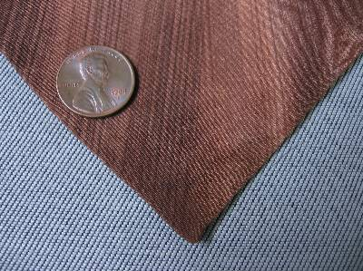Vintage 40s Hand Painted Silk Hollyvogue Pink Brown Neck Tie