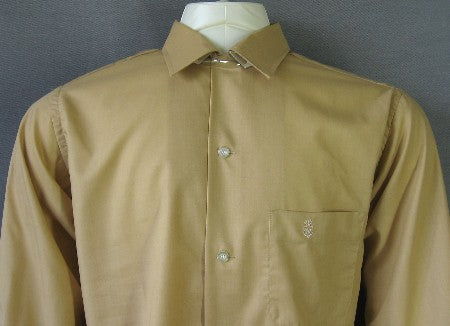 60s Vintage Men's Shirt Penney's New Old Stock 1960s M Embroidered Logo