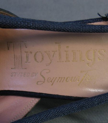 vintage 50s Troylings shoes label
