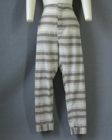 1950s vintage mens plaid pajama pants