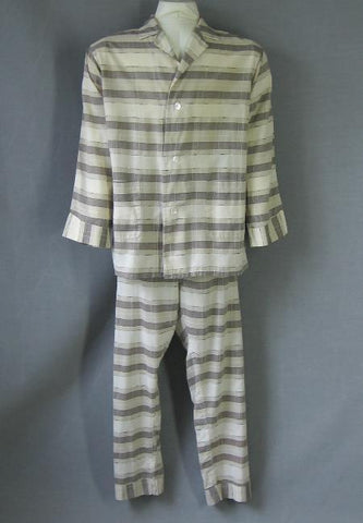 vintage 1950s mens plaid pajamas