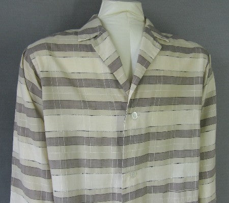 1950s vintage plaid pajama shirt