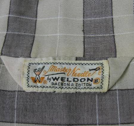 vintage 50s Weldon pajamas label Master Needles
