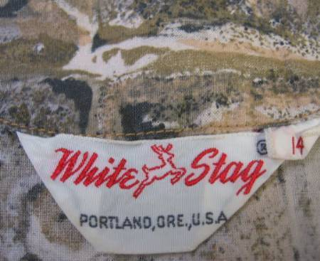 White Stag 1950s vintage blouse label