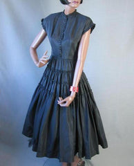 1950s vintage full skirt cocktail dress