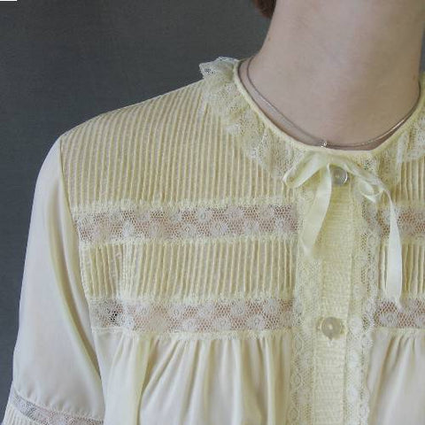 vintage pajamas pintucking embellishment