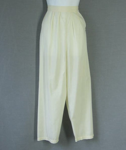 50s Batiste Pajamas Vintage Barbizon Top Pants Lace Pintuck S
