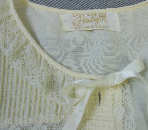 vintage pajamas Barbizon label, Lazy Sue, Zephaire Batisite