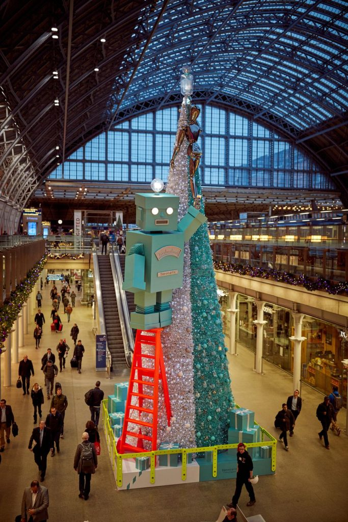 St Pancreas Christmas Tree with Pines and Needles