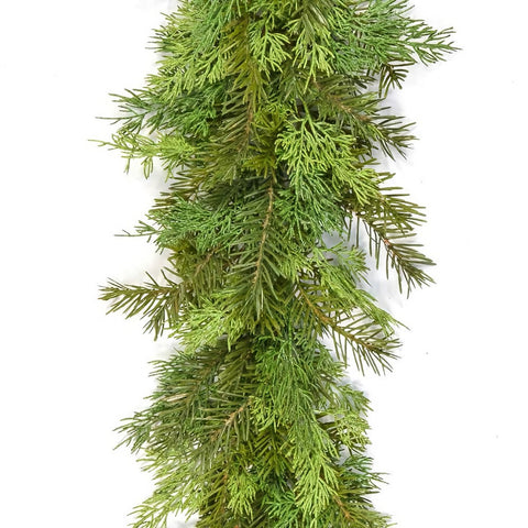 Realistic Artificial Pine Christmas Garland, 1.8m