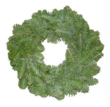 Plain Real Christmas Wreath, 14inch, from Pines and Needles