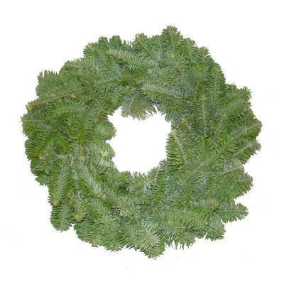 Plain Real Christmas Wreath, 20inch, from Pines and Needles