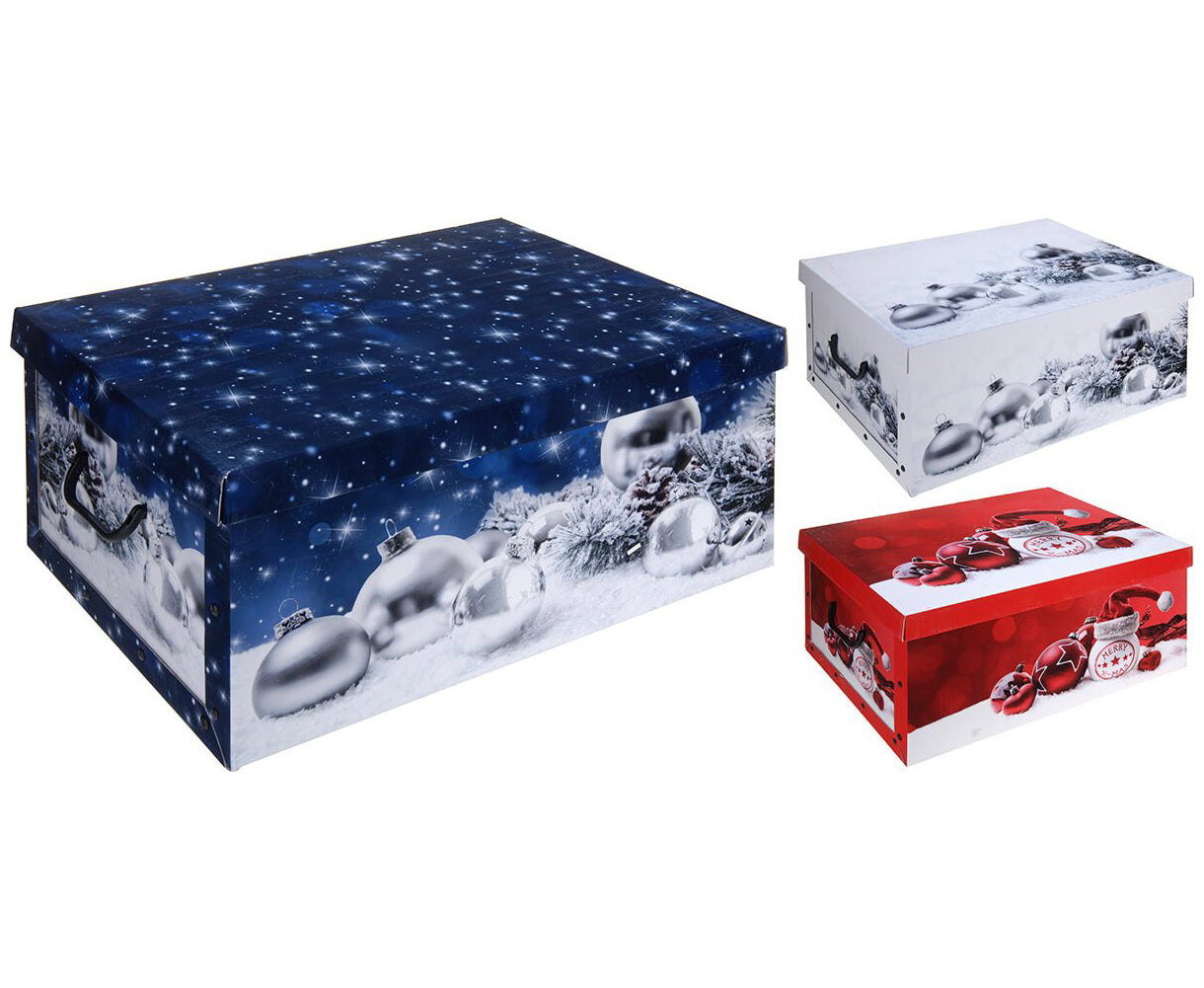 Storage Box for Christmas Decs (Red, White or Blue)