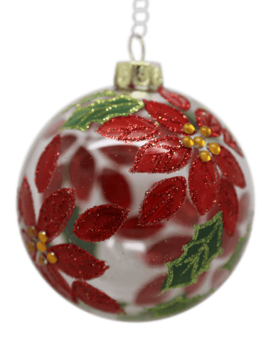 Gisela Graham Christmas Poinsettia Bauble