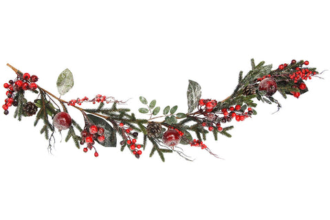 Gisela Graham Frosted Berry & Fruit Christmas Garland